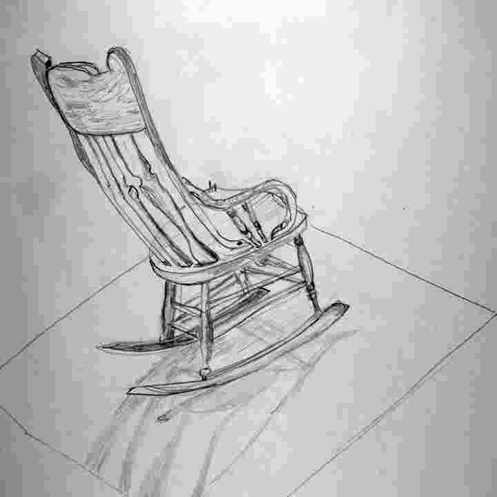 how to draw a rocking chair byuh drawing rocking chair drawing 2