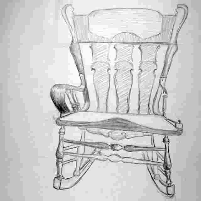 how to draw a rocking chair byuh drawing rocking chair