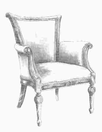 how to draw a rocking chair chair sketch i231 mekan modelleme koltuklar ve