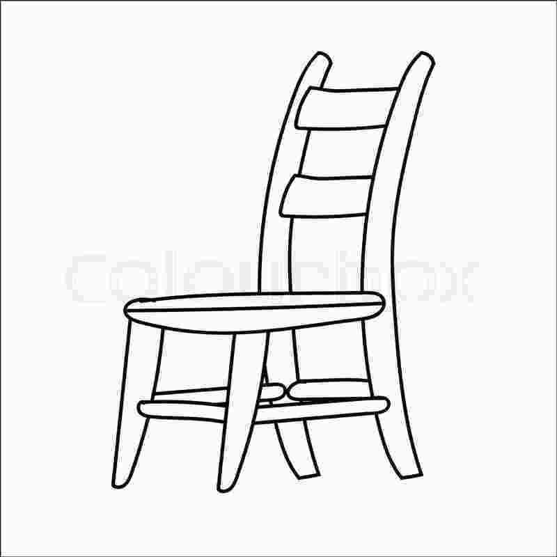 how to draw a rocking chair hand drawn sketch of chair isolated black and white