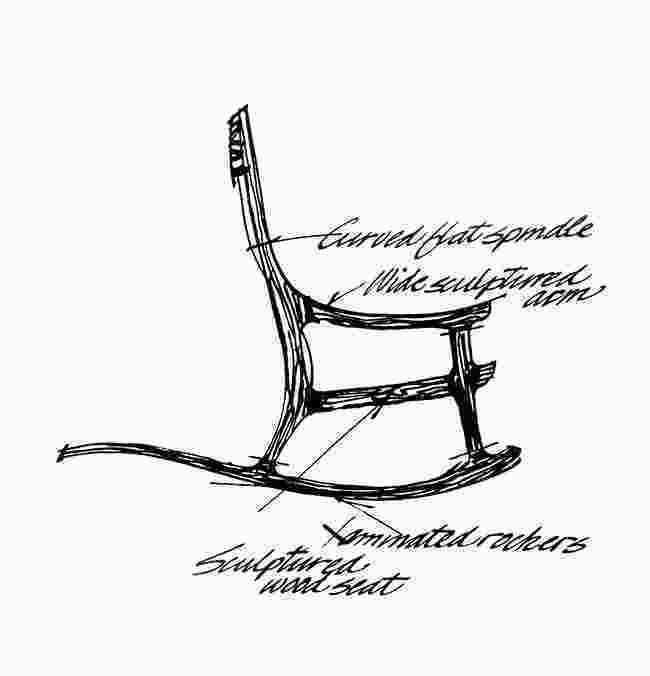 how to draw a rocking chair rocking chair drawing at getdrawingscom free for 2
