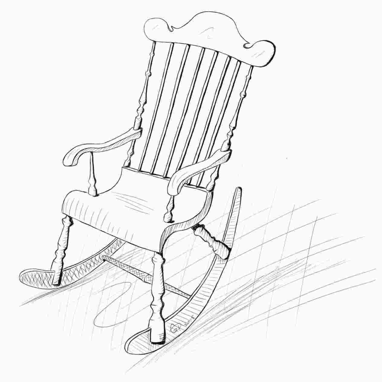 how to draw a rocking chair rocking chair drawing at getdrawingscom free for
