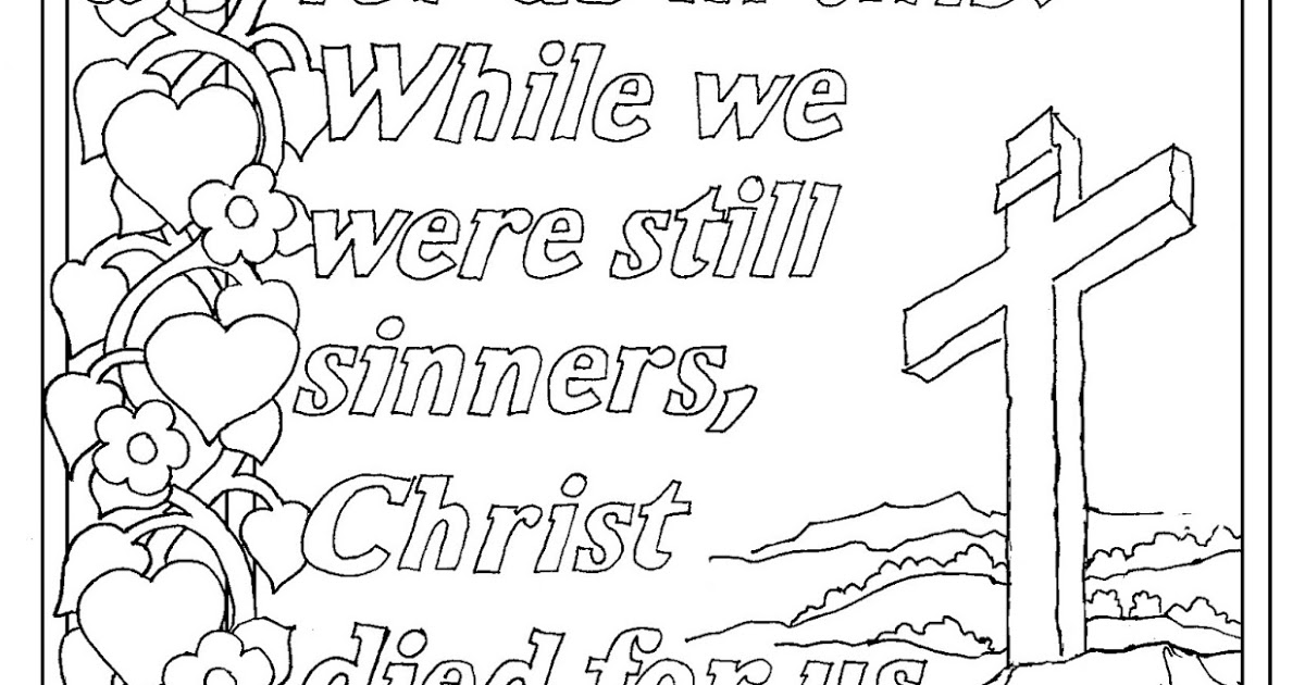 romans 5 8 coloring sheet coloring pages for kids by mr adron romans 58 print and romans coloring 8 sheet 5