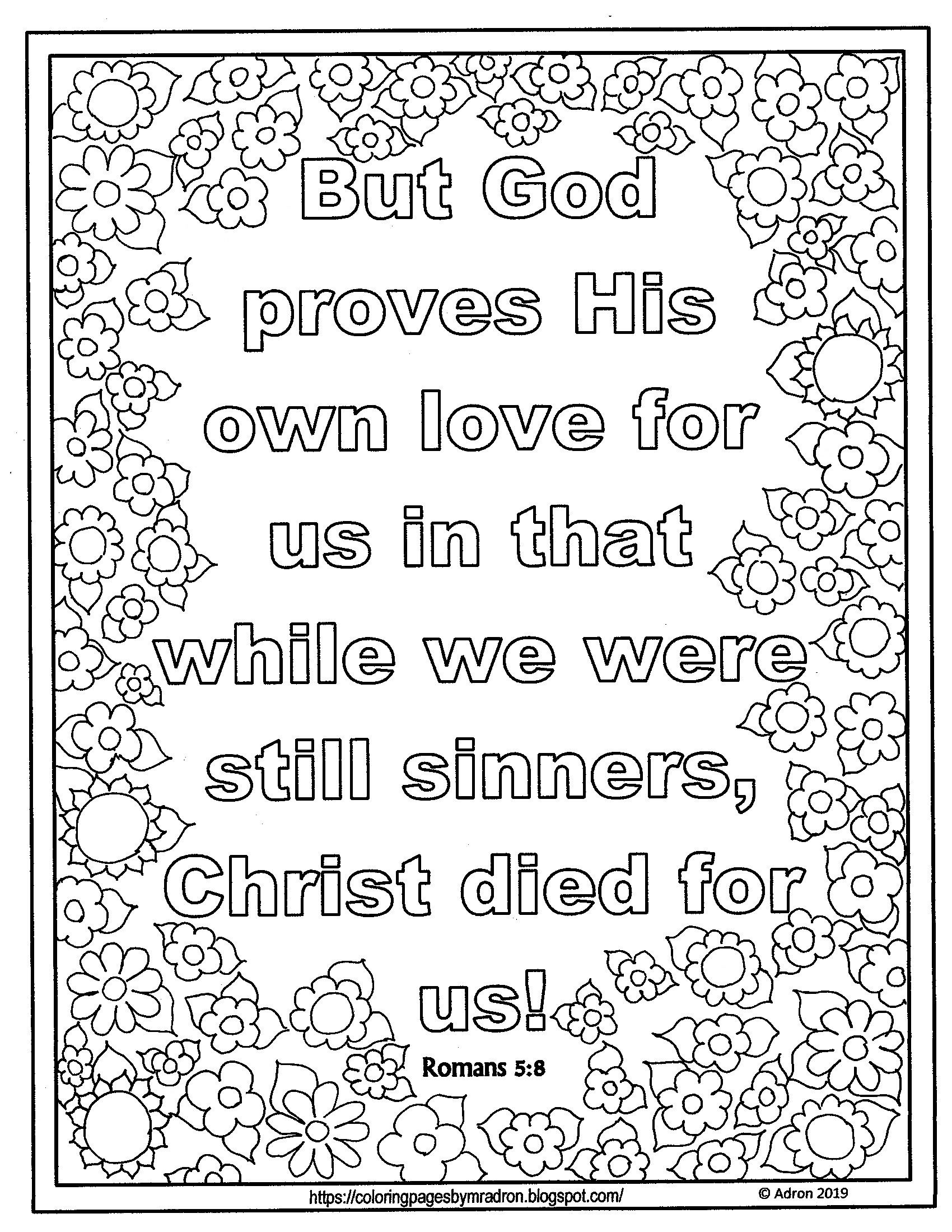 romans 5 8 coloring sheet god works for our good coloring pages romans bible 8 sheet coloring 5 romans