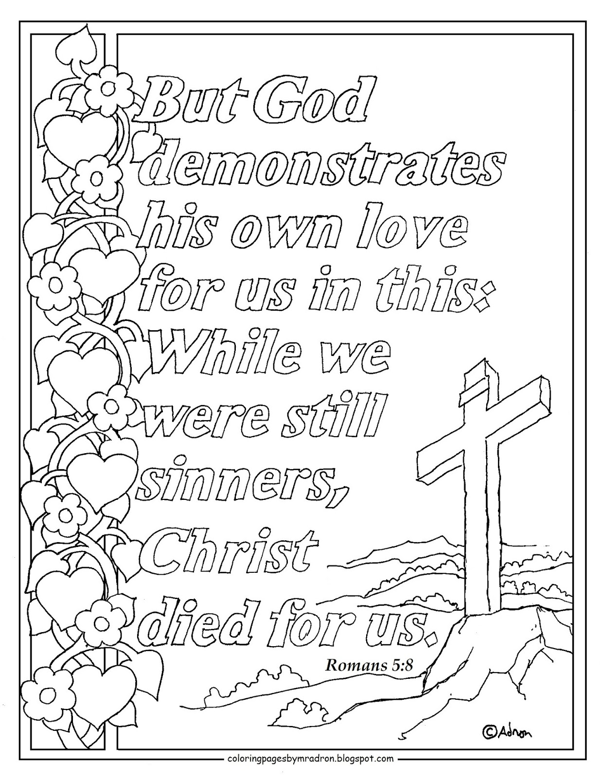 romans 5 8 coloring sheet pirate girl memory verse monday romans sheet 8 5 coloring
