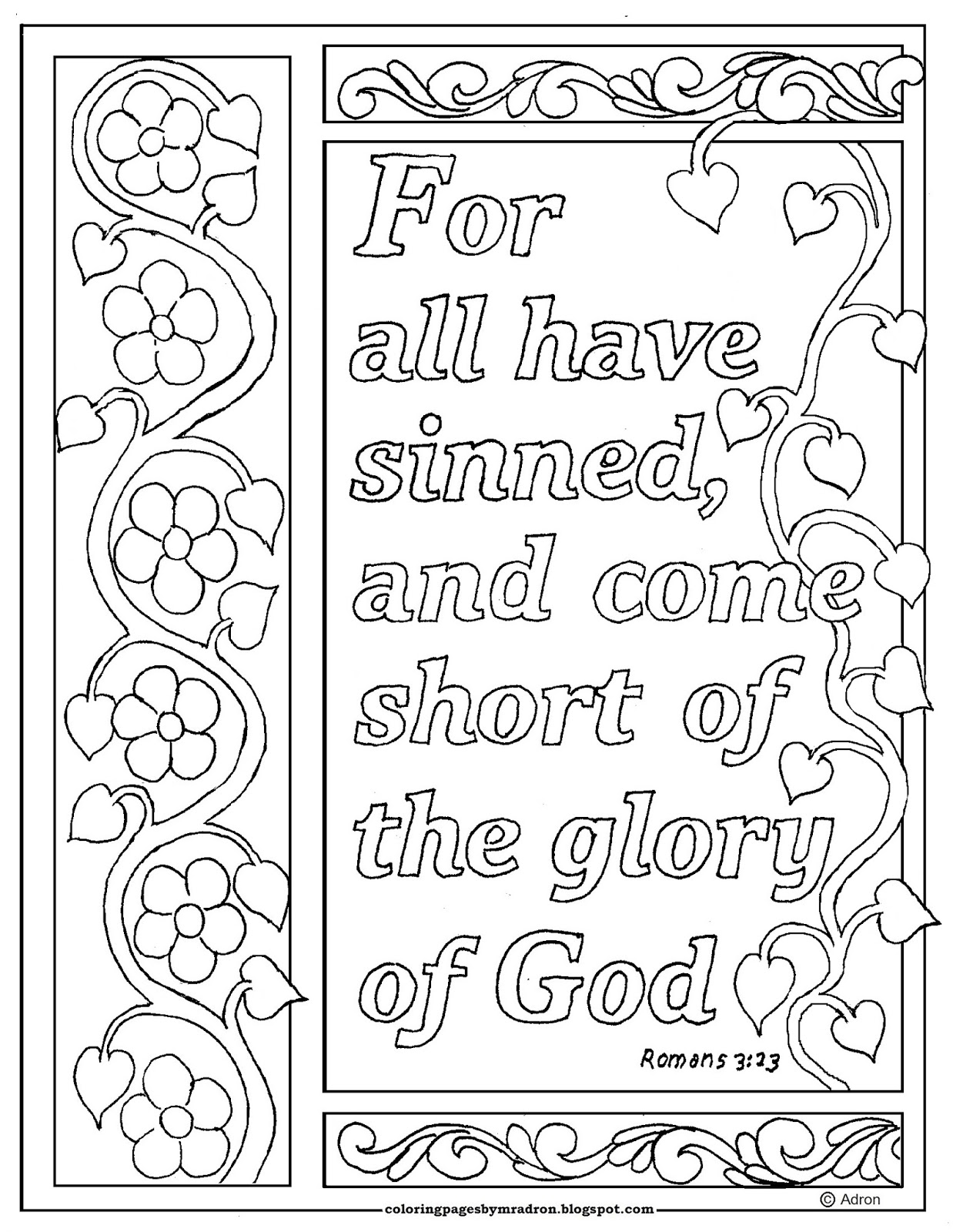 romans 5 8 coloring sheet this free coloring page is based on the book of romans it 8 5 romans coloring sheet