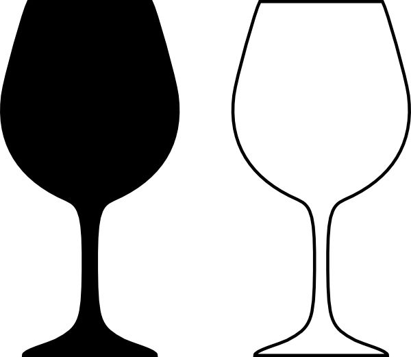 wine glass silhouette cartoon glass of white wine stock vector nikiteev silhouette glass wine