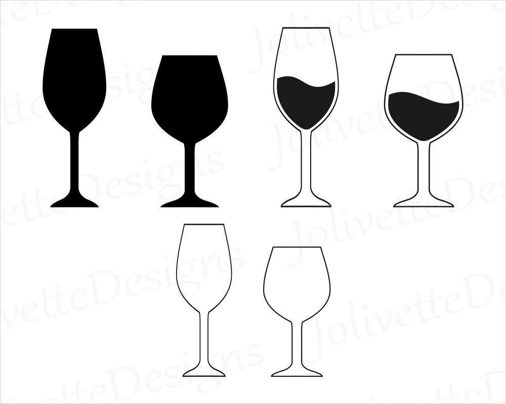 wine glass silhouette wine wine glass glasses clip art clipart design svg etsy silhouette glass wine