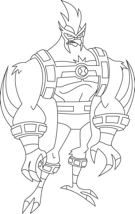 ben 10 print ben 10 coloring pages characters black and white clipart print 10 ben