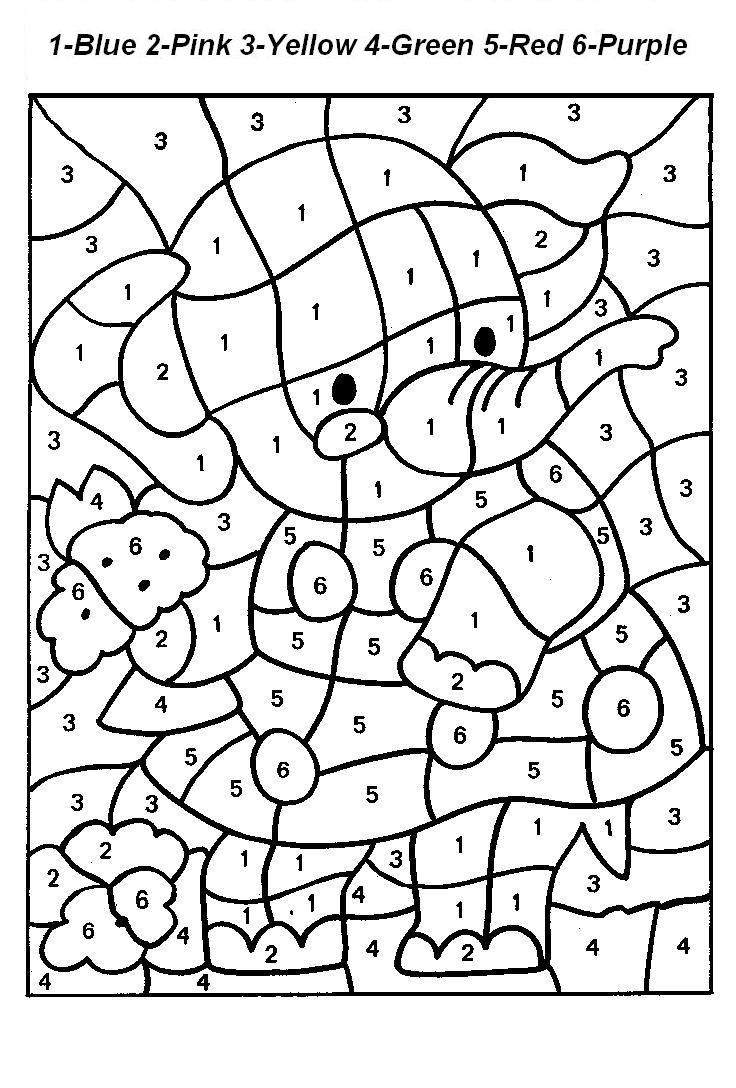color by number printable free printable color by number coloring pages best number printable by color