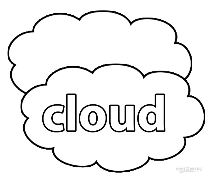 coloring cloud cloud coloring printables clipart best cloud coloring