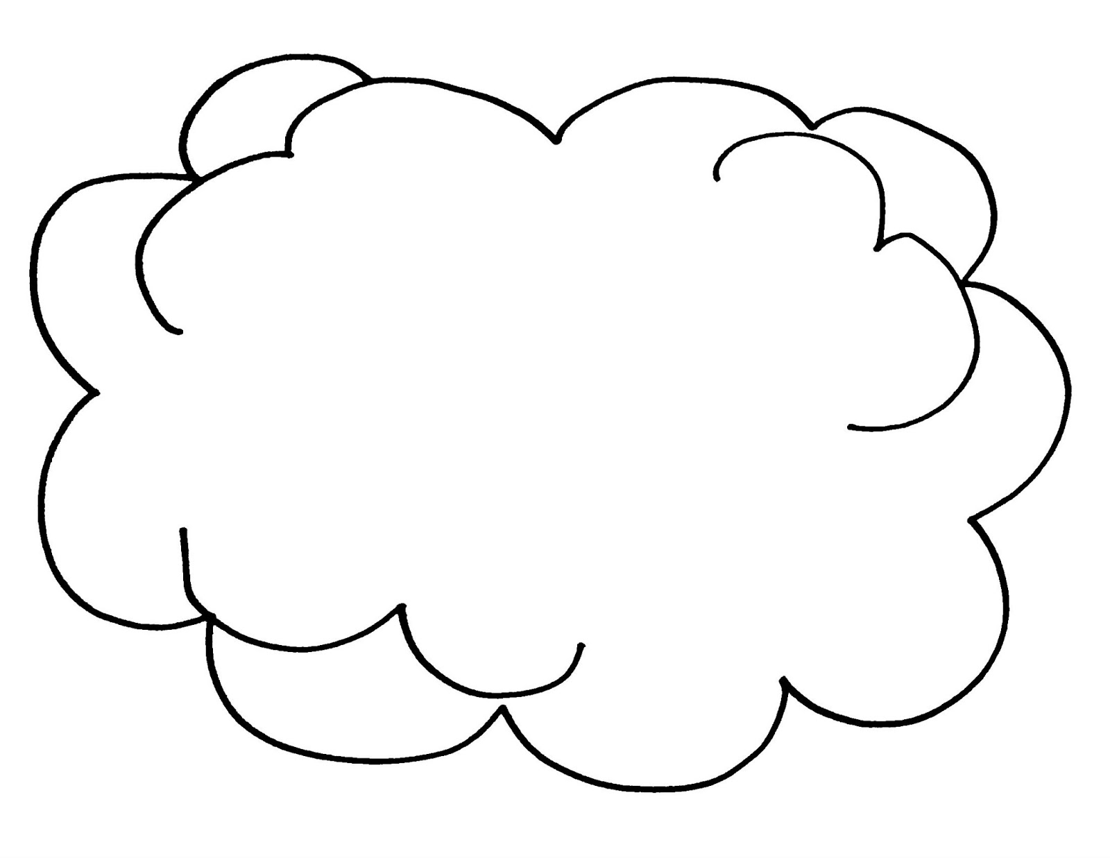 coloring cloud free printable cloud coloring pages for kids nature cloud coloring