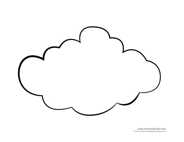 coloring cloud free printable cloud template download free clip art coloring cloud