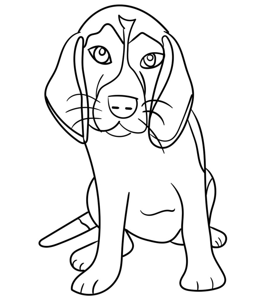 Pictures to colour of dogs