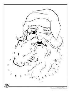 santa dot to dot christmas connect the dots worksheets woo jr kids to dot dot santa