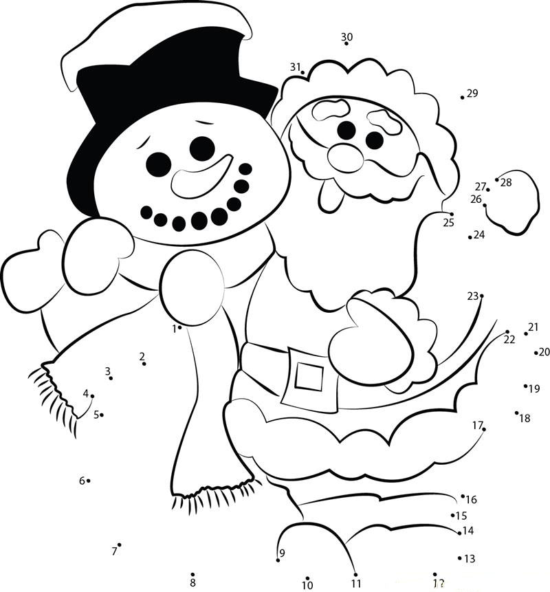 santa dot to dot connect the dots christmas to download and print for free dot to dot santa