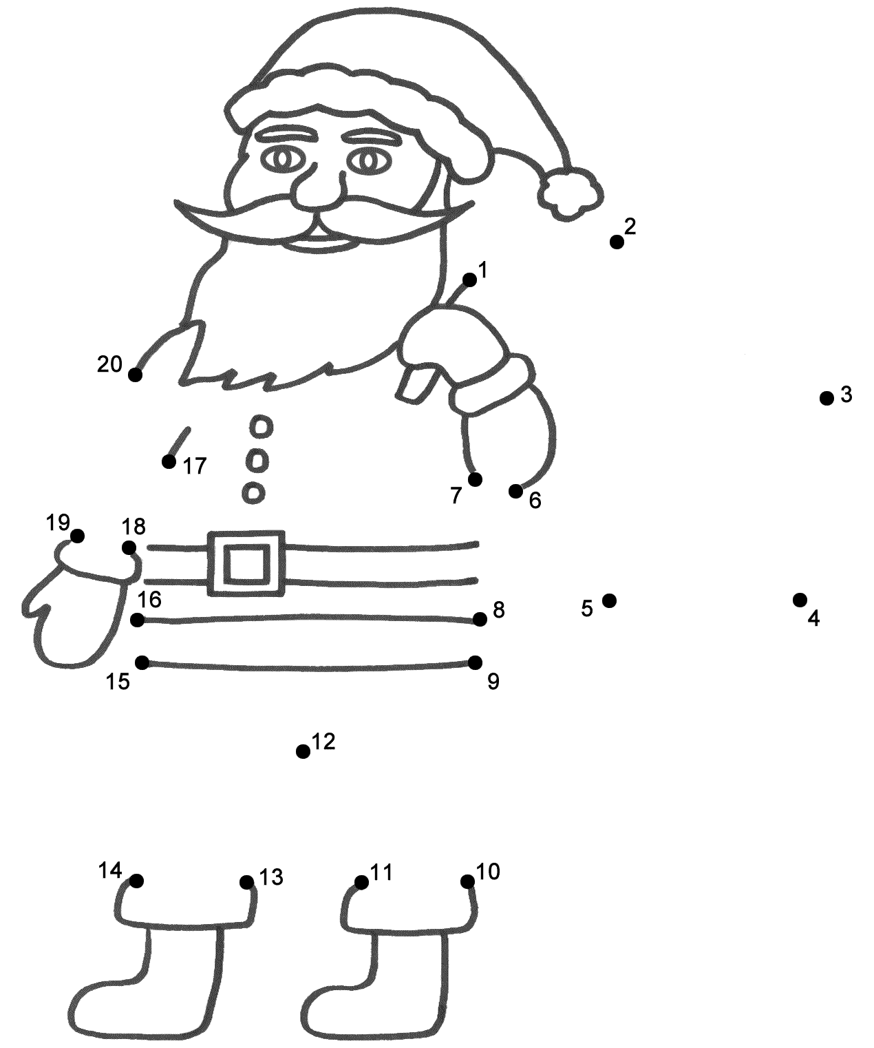 santa dot to dot santa claus happy dot to dot printable worksheet connect dot dot to santa
