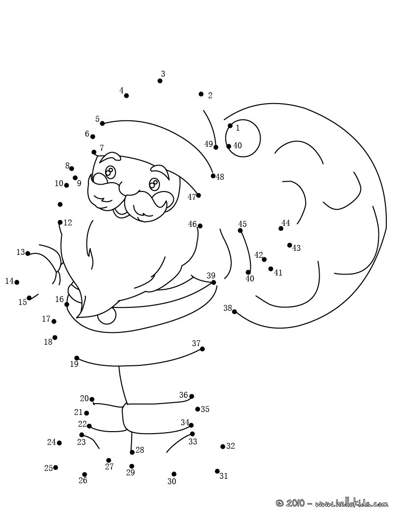 santa dot to dot santa claus shuuuuuuu dot to dot printable worksheet to dot dot santa