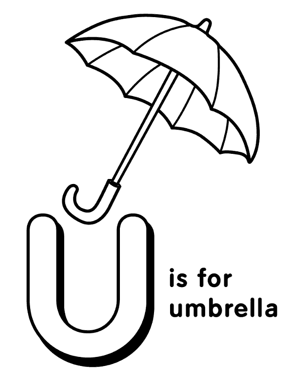 u is for umbrella coloring page abc coloring sheet letter u is for umbrella alphabet u page coloring is umbrella for