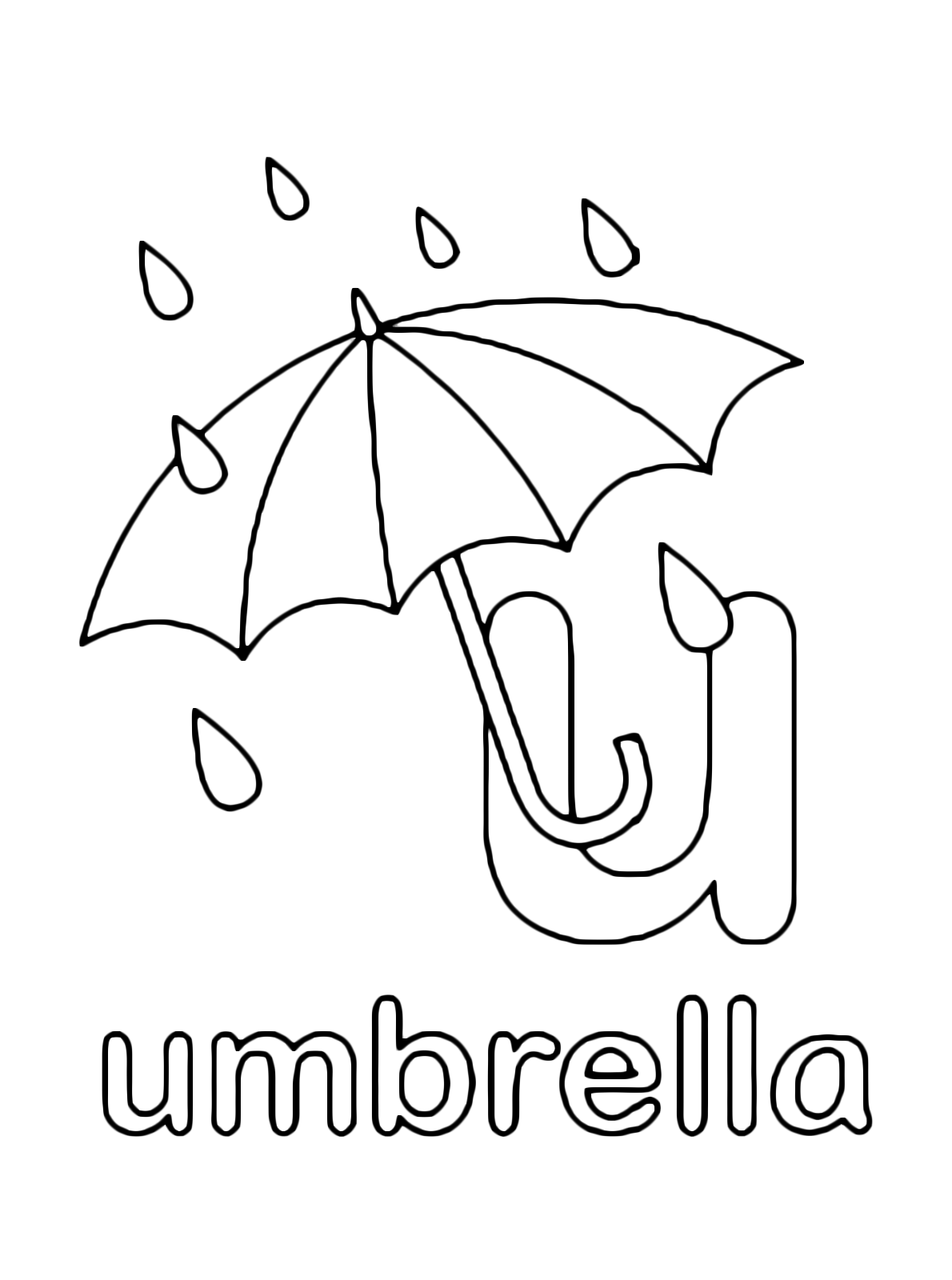 u is for umbrella coloring page letter u coloring pages getcoloringpagescom coloring is umbrella for u page