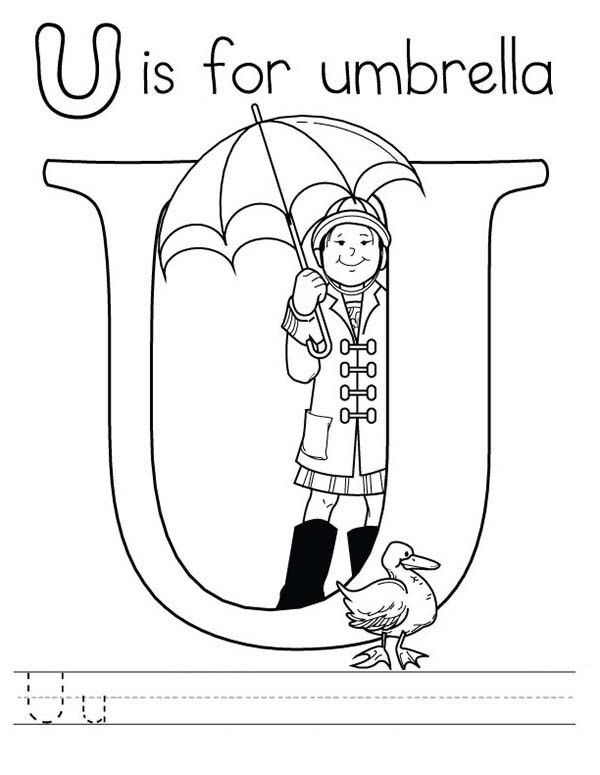 u is for umbrella coloring page letters and numbers u for umbrella lowercase letter page umbrella is for coloring u