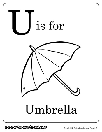 u is for umbrella coloring page u is for umbrella letter u coloring page pdf is coloring u umbrella page for