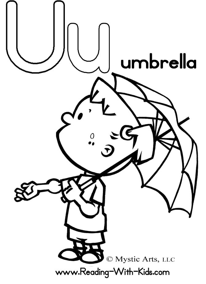 u is for umbrella coloring page u is for umbrella page coloring pages is for umbrella page u coloring