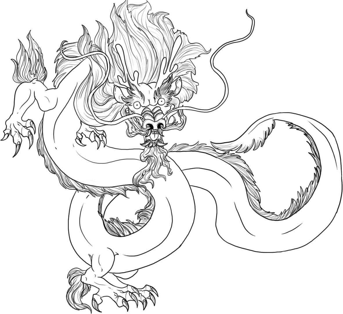 chinese dragon color sheets chinese dragon cartoon drawing at getdrawingscom free dragon sheets chinese color