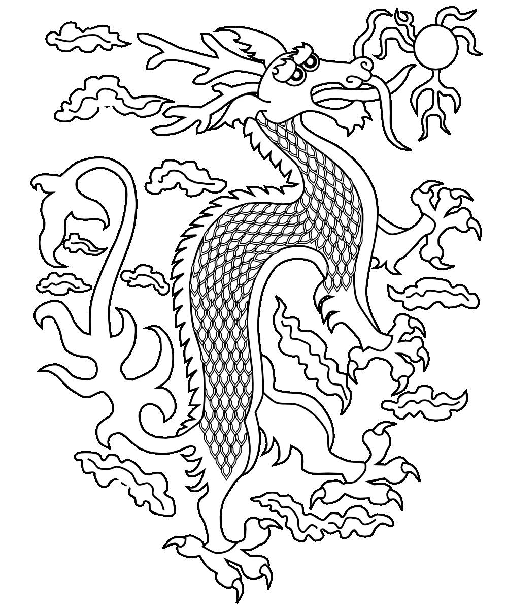 chinese dragon color sheets chinese dragon coloring page by rossy39s jungle tpt chinese sheets dragon color