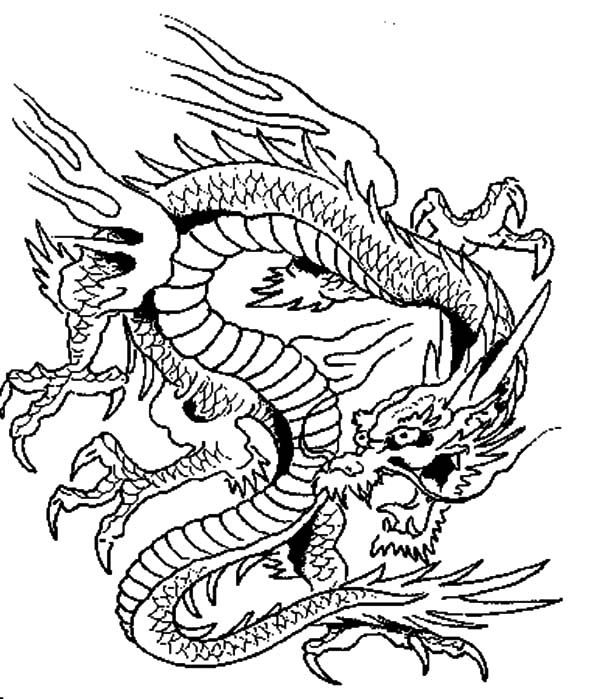 chinese dragon color sheets complex dragon coloring pages at getcoloringscom free dragon color sheets chinese