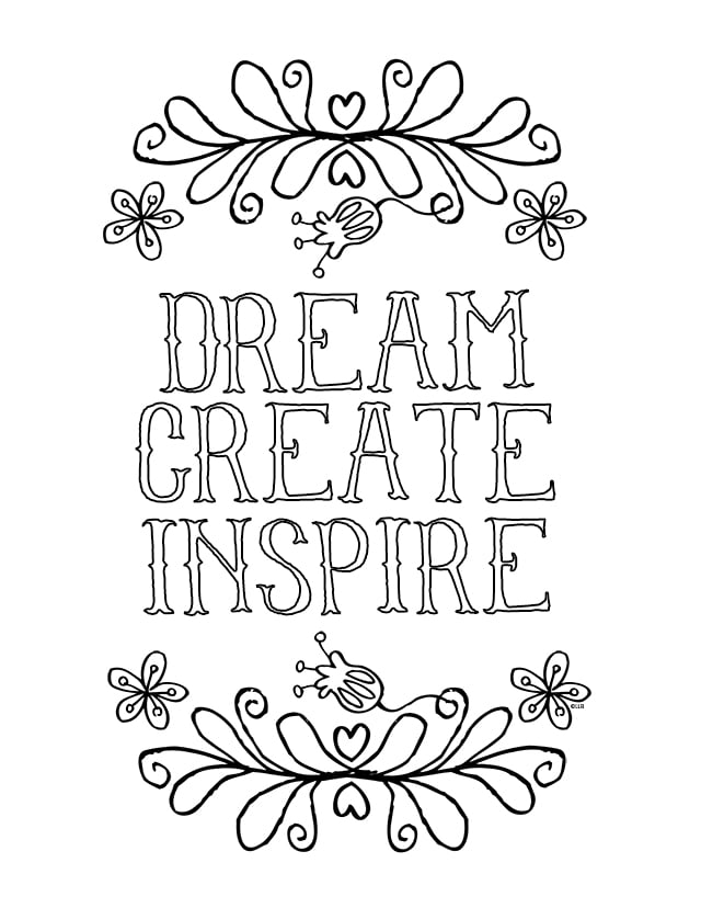 coloring page quotes 12 inspiring quote coloring pages for adultsfree printables coloring quotes page