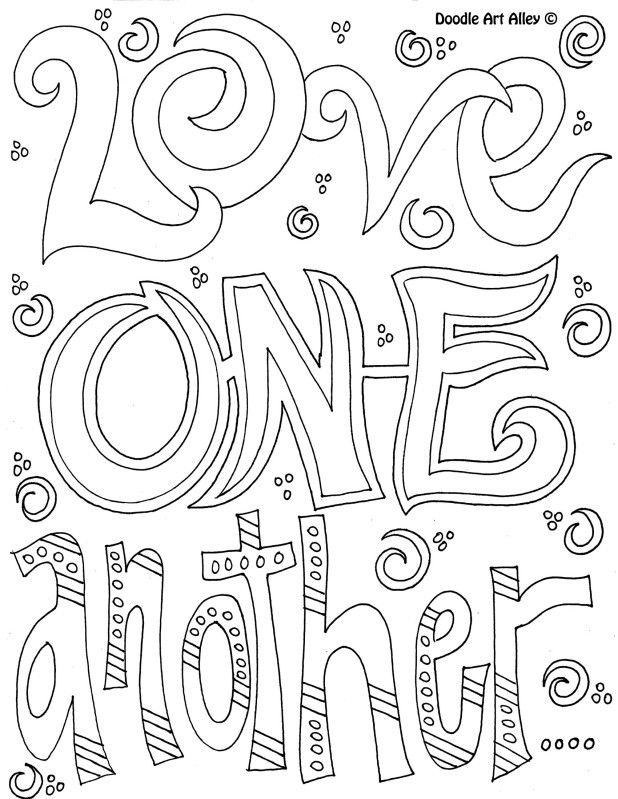 coloring page quotes quote coloring pages doodle art alley page coloring quotes