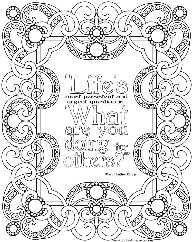 coloring page quotes whimspirations whimsical wednesdayquotcolor powerquot coloring page quotes