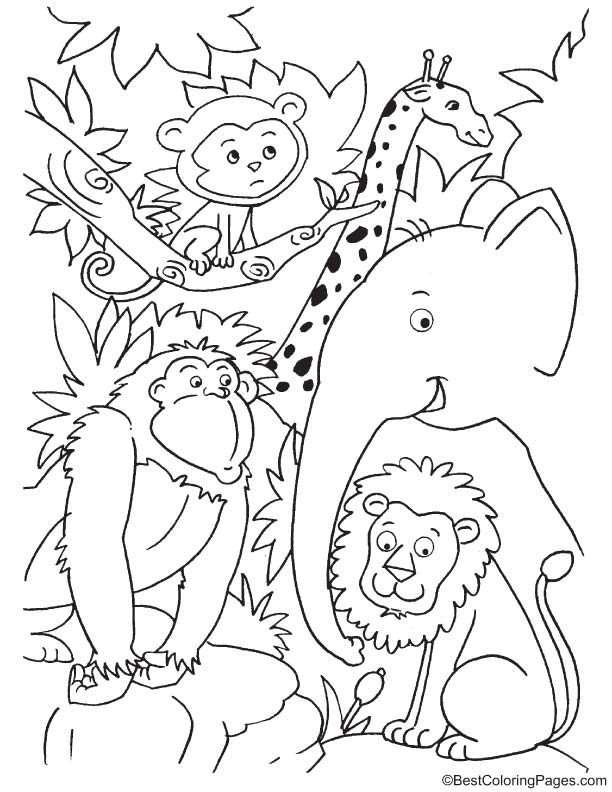 cute jungle coloring pages 2o awesome jungle coloring pages jungle pages cute coloring