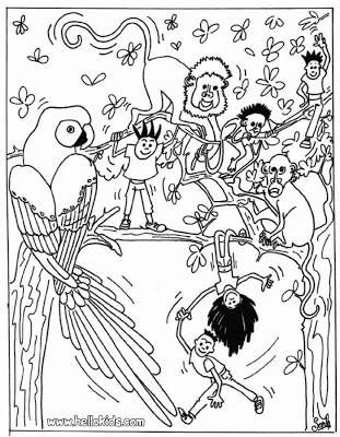 cute jungle coloring pages jungle coloring pages to download and print for free cute jungle pages coloring