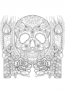 detailed skull coloring pages candy skull colouring page coloring design therapy coloring detailed skull pages
