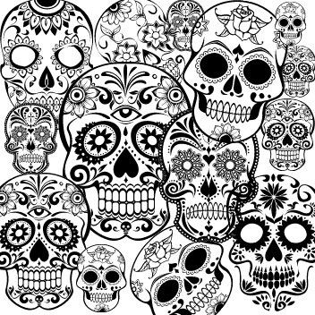 detailed skull coloring pages day of the dead dia de los muertos sugar skull coloring coloring detailed skull pages