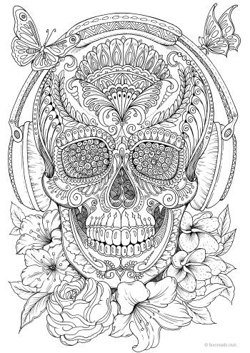 detailed skull coloring pages detailed coloring page of skull coloring pages skull detailed pages coloring