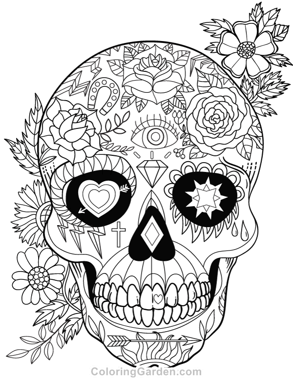 detailed skull coloring pages detailed coloring pages for adults skull coloring home coloring detailed pages skull