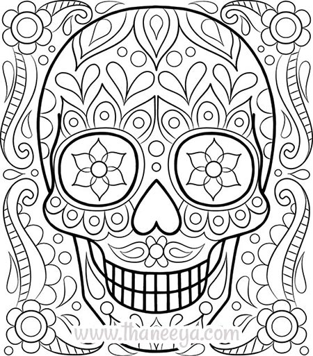 detailed skull coloring pages pin by muse printables on adult coloring pages at coloring skull pages detailed