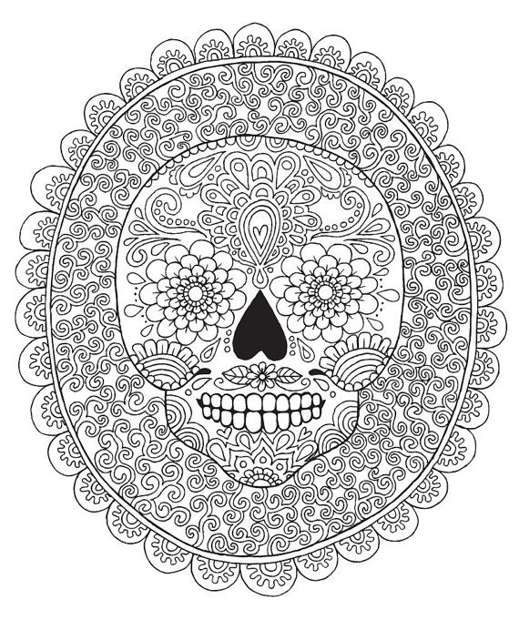 detailed skull coloring pages skull mural kerby rosanes doodle coloring pages colouring detailed pages skull coloring