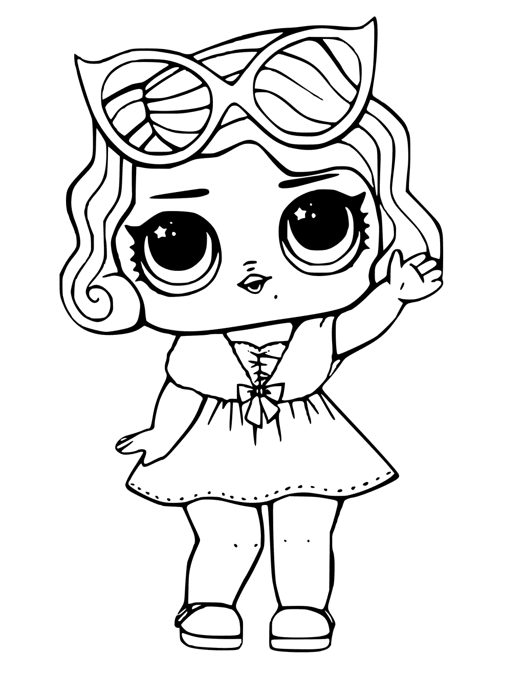 doll colouring pages coloring pages of lol surprise dolls 80 pieces of black colouring doll pages