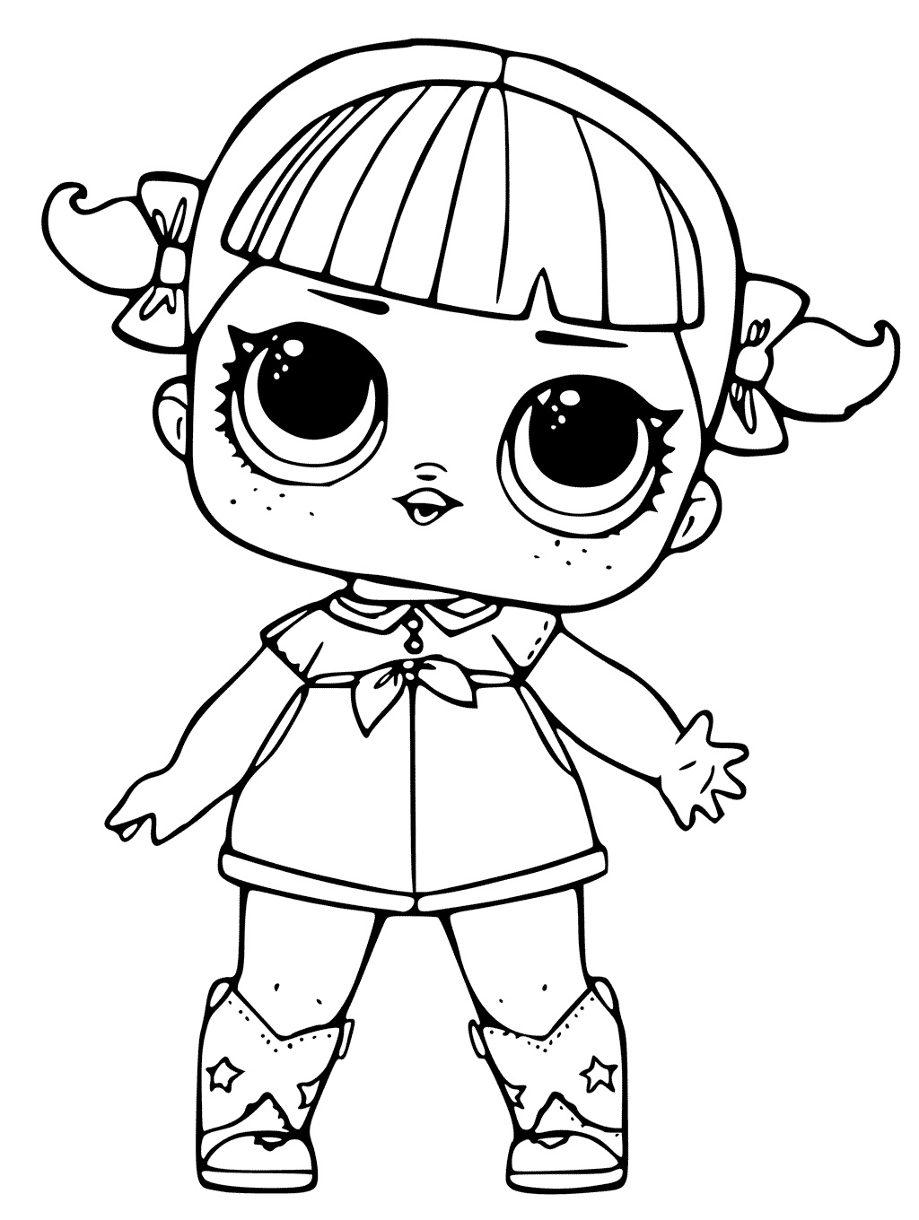 doll colouring pages little lids siobhan lol doll colouring pages colouring doll pages