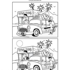 find the difference for adults spot the difference coloring pages download and print for free for the adults difference find