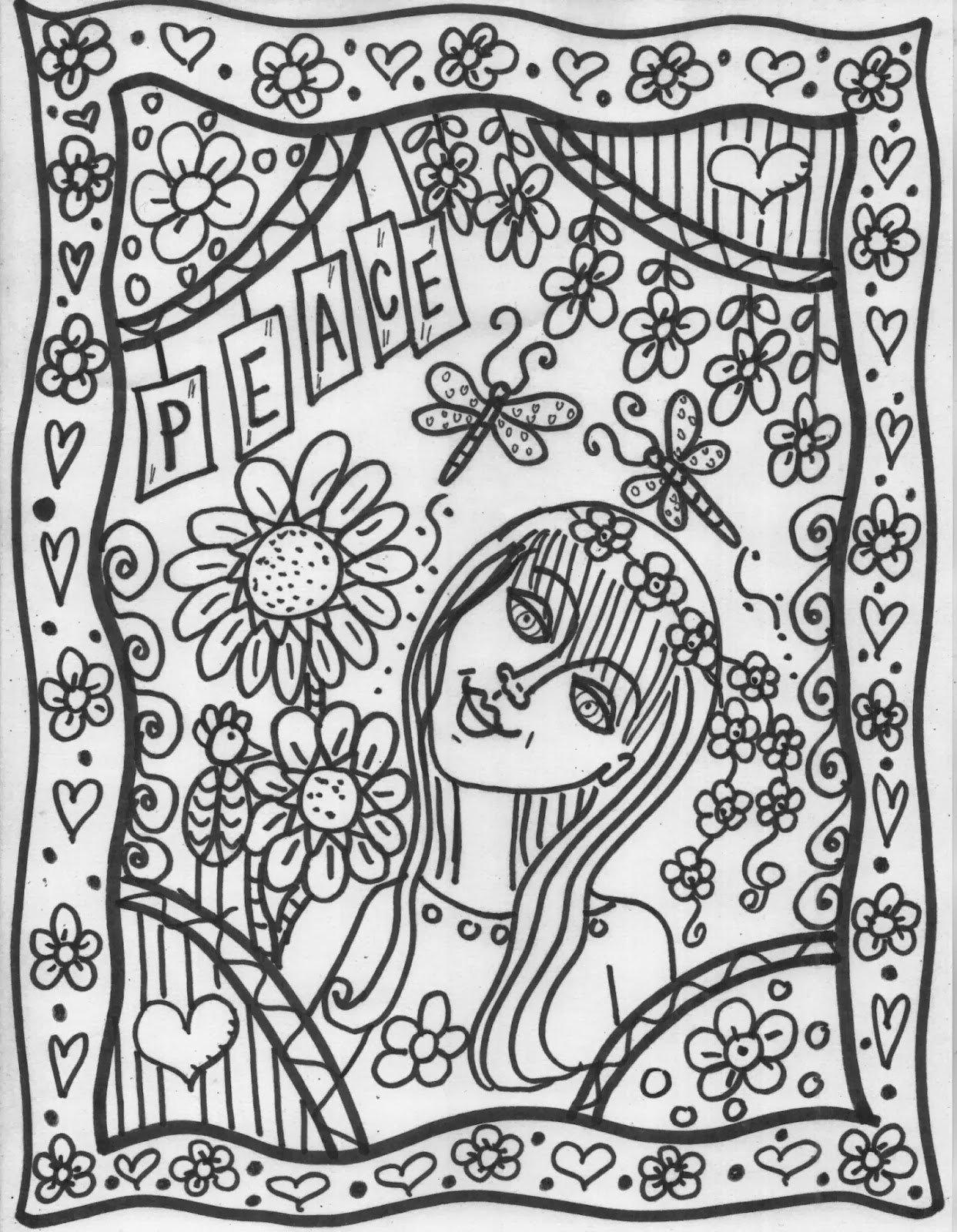 hippie girl coloring pages build your own coloring book select pages go back to my coloring pages hippie girl