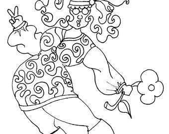 hippie girl coloring pages build your own coloring book select pages go back to my girl pages hippie coloring