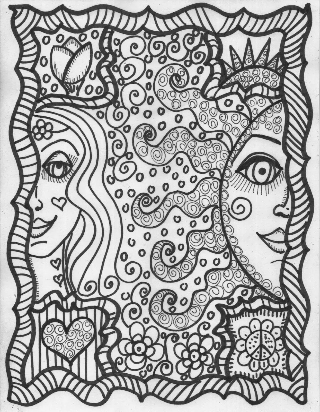 hippie girl coloring pages henna girls coloring book hippie art coloring girl pages hippie