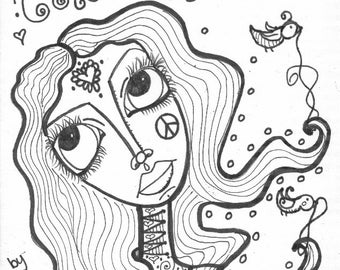 hippie girl coloring pages henna girls coloring book hippie art pages girl hippie coloring