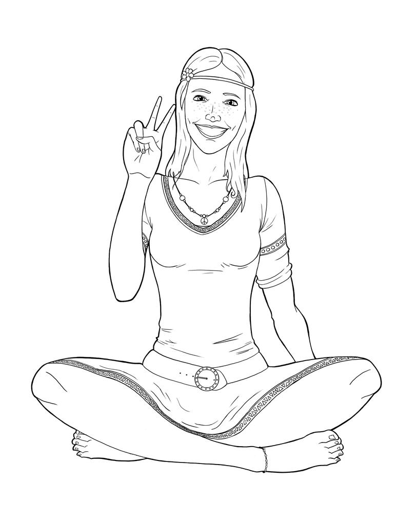 hippie girl coloring pages hippie girl coloring pages girl coloring hippie pages