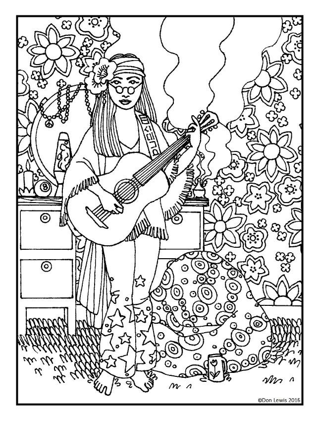 hippie girl coloring pages hippie girl coloring pages hippie coloring pages girl